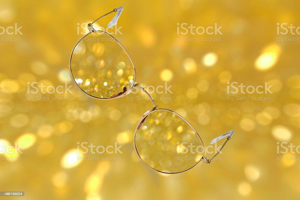metal glasses stock photo
