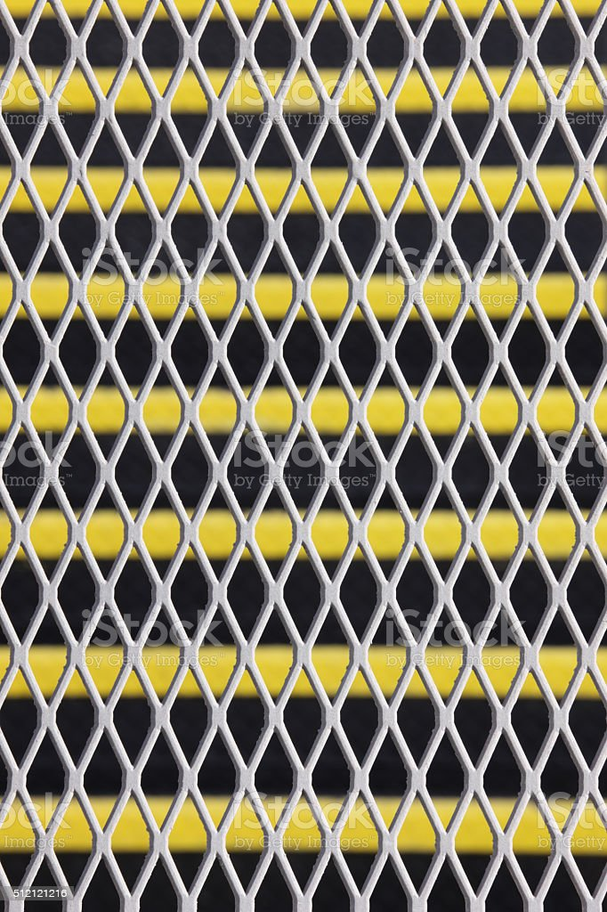 Metal Grate Steel Fence Wire Mesh stock photo