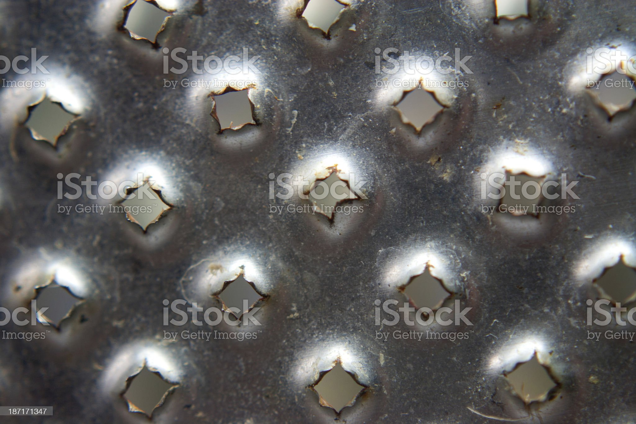 Metal grater close-up royalty-free stock photo