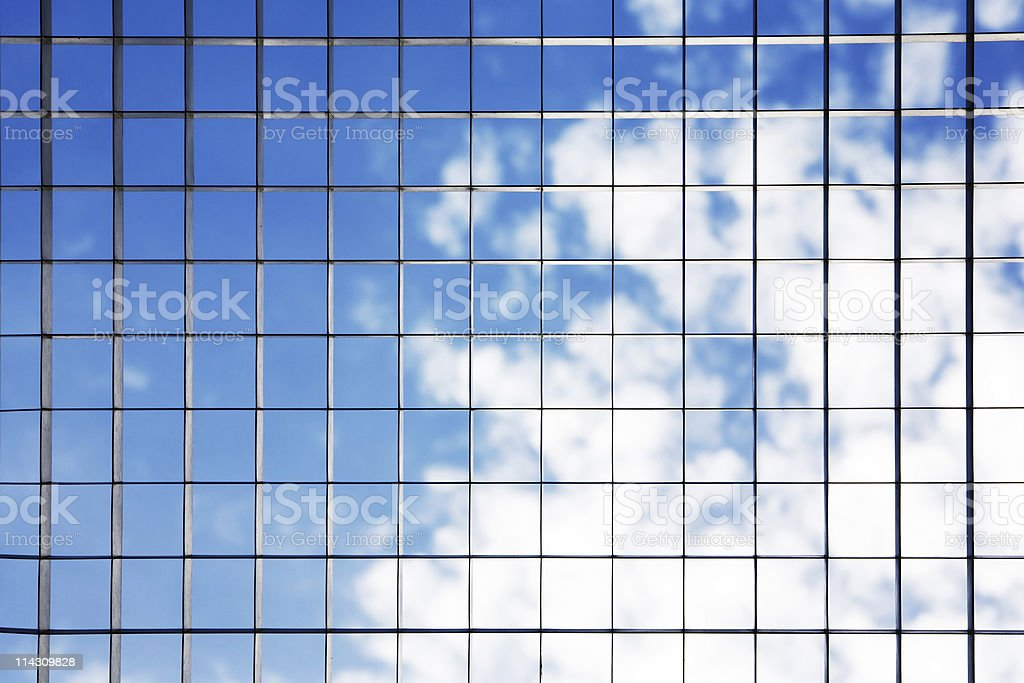Metal grid over sky royalty-free stock photo