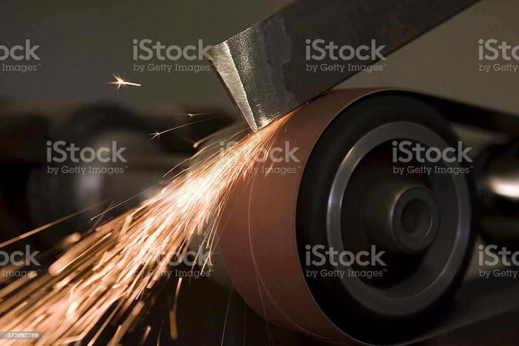 Metal Grinding royalty-free stock photo