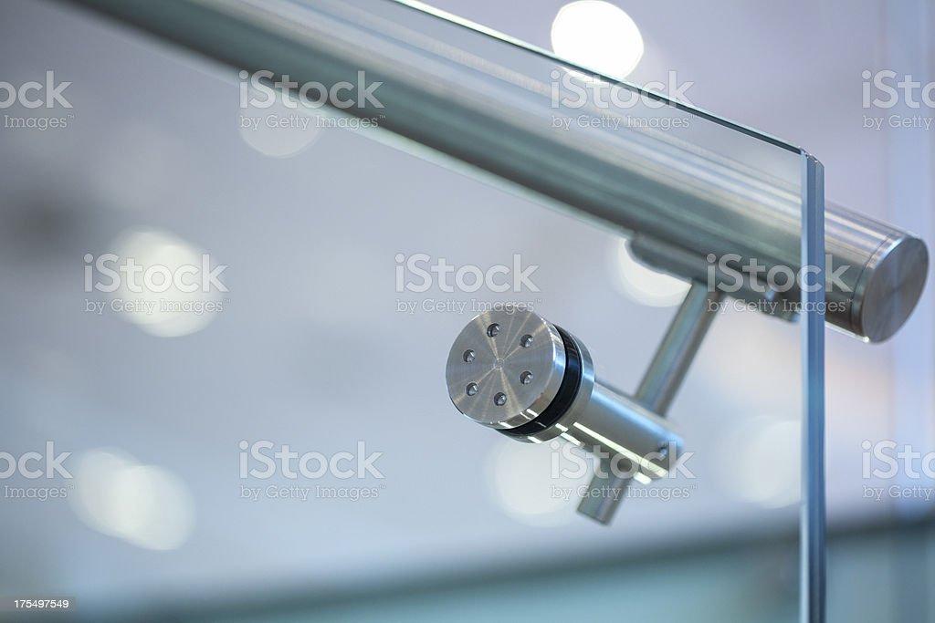 Metal handrail royalty-free stock photo