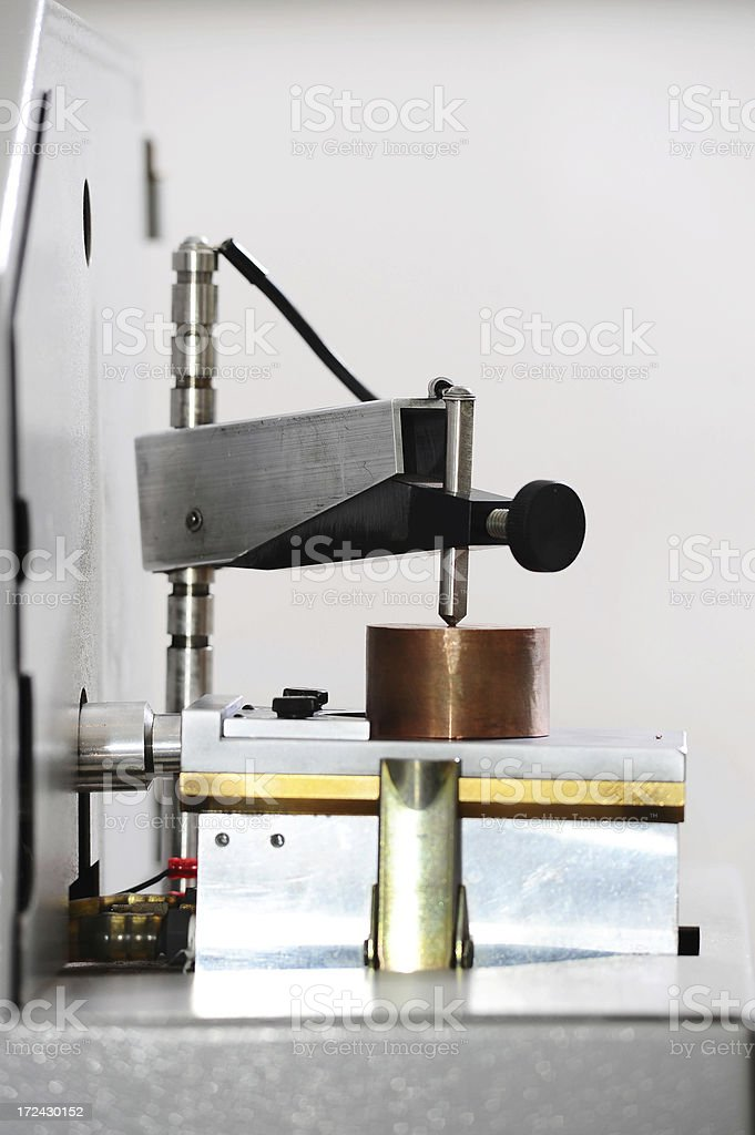 Metal hardness research stock photo