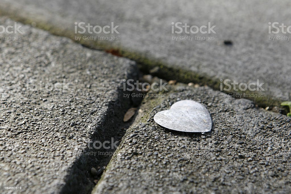 Metal Heart royalty-free stock photo