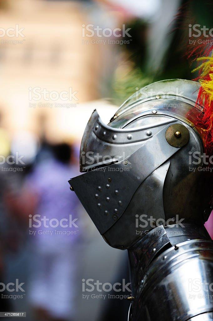 Metal helmet of the knight, Rothenburg ob der Tauber royalty-free stock photo