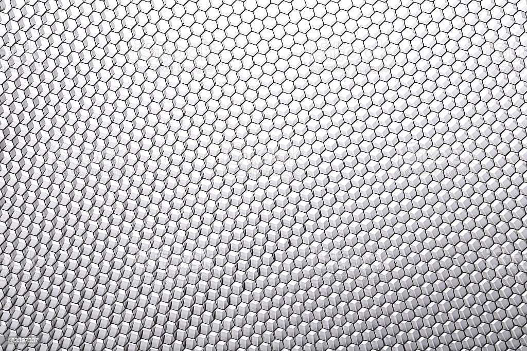 Metal hexagonal mesh. stock photo