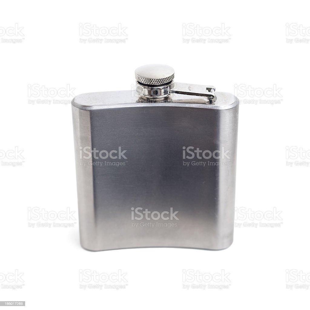 Metal Hip Flask stock photo