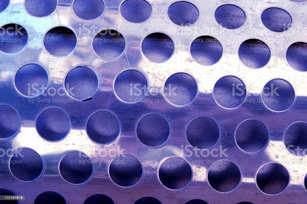 Metal Holes Blue stock photo