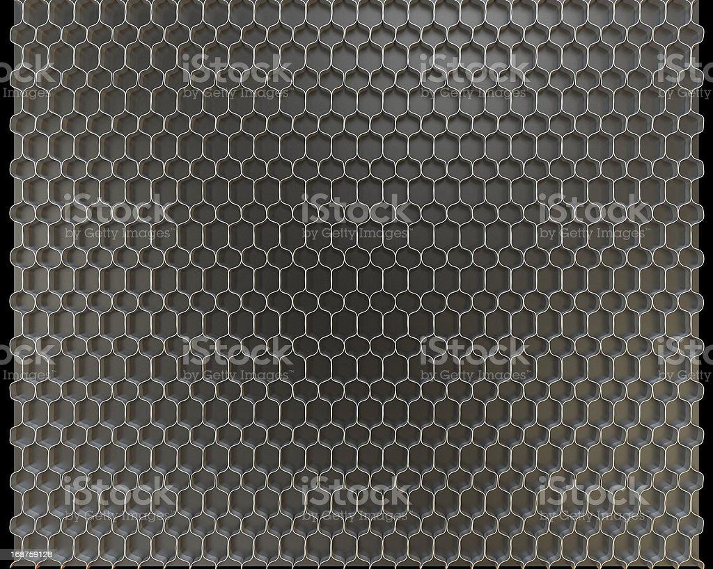 Metal honeycomb background royalty-free stock photo