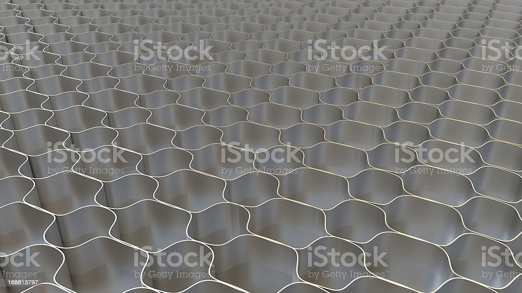 Metal honeycomb background royalty-free stock photo