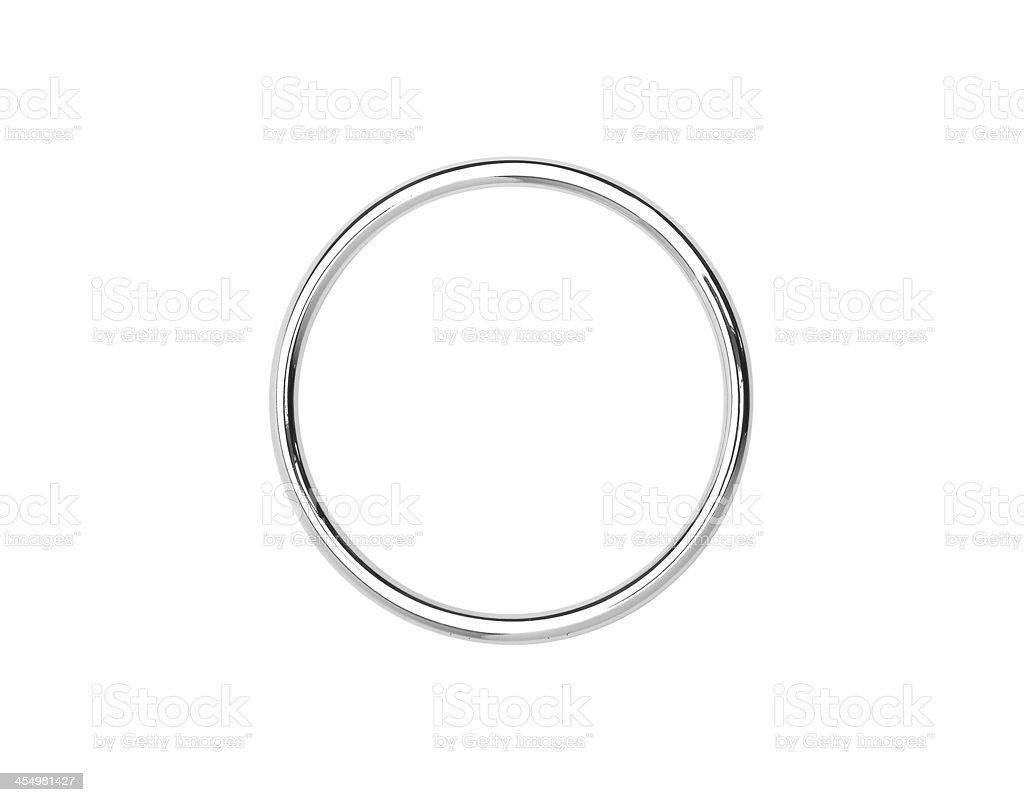 Metal hoop isolated on white stock photo