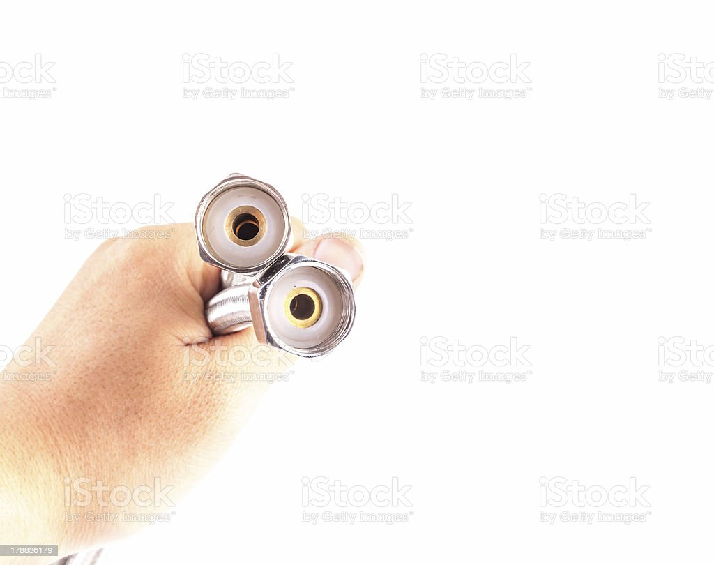 metal hose royalty-free stock photo