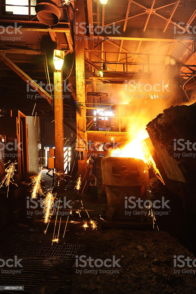 Metal industry stock photo