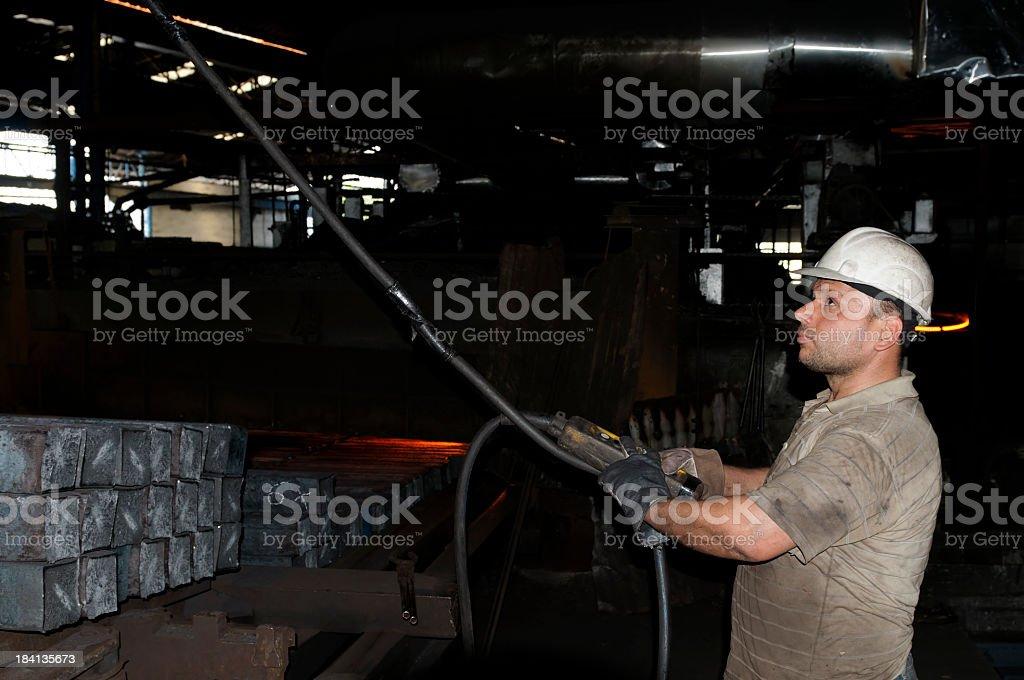 Metal Industry Worker royalty-free stock photo