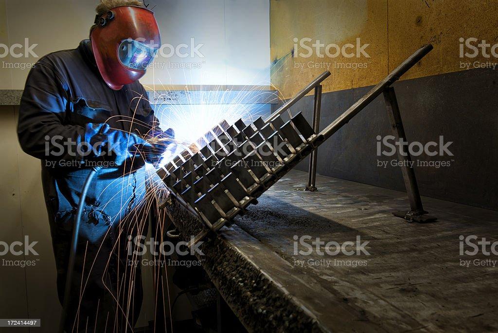 Metal Inert Gas Welding MIG stock photo