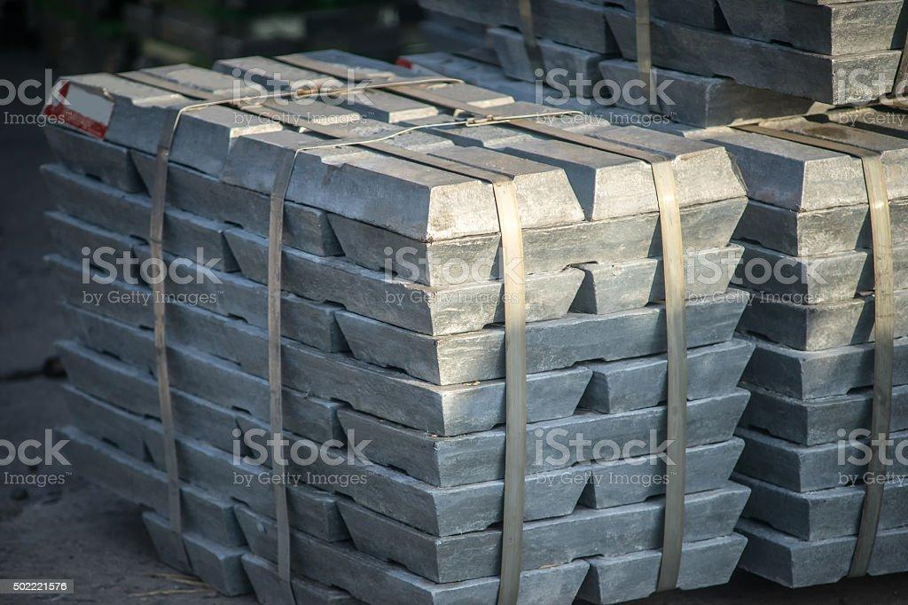 metal ingots stock photo