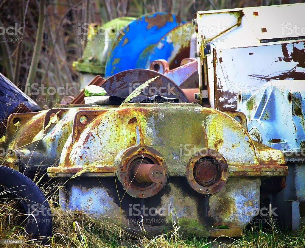 Metal junk stock photo