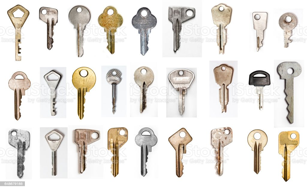 metal key, set stock photo