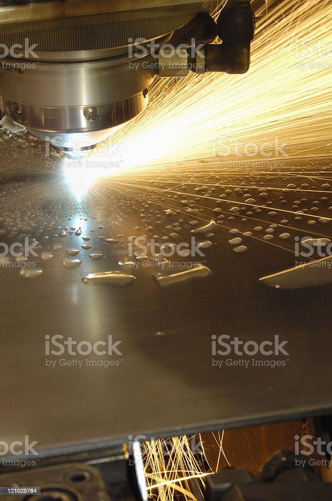 Metal laser cutting tool stock photo