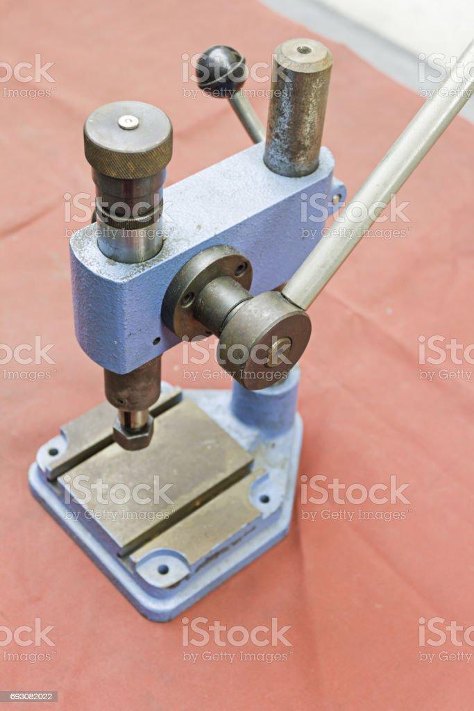 Metal lathe stock photo