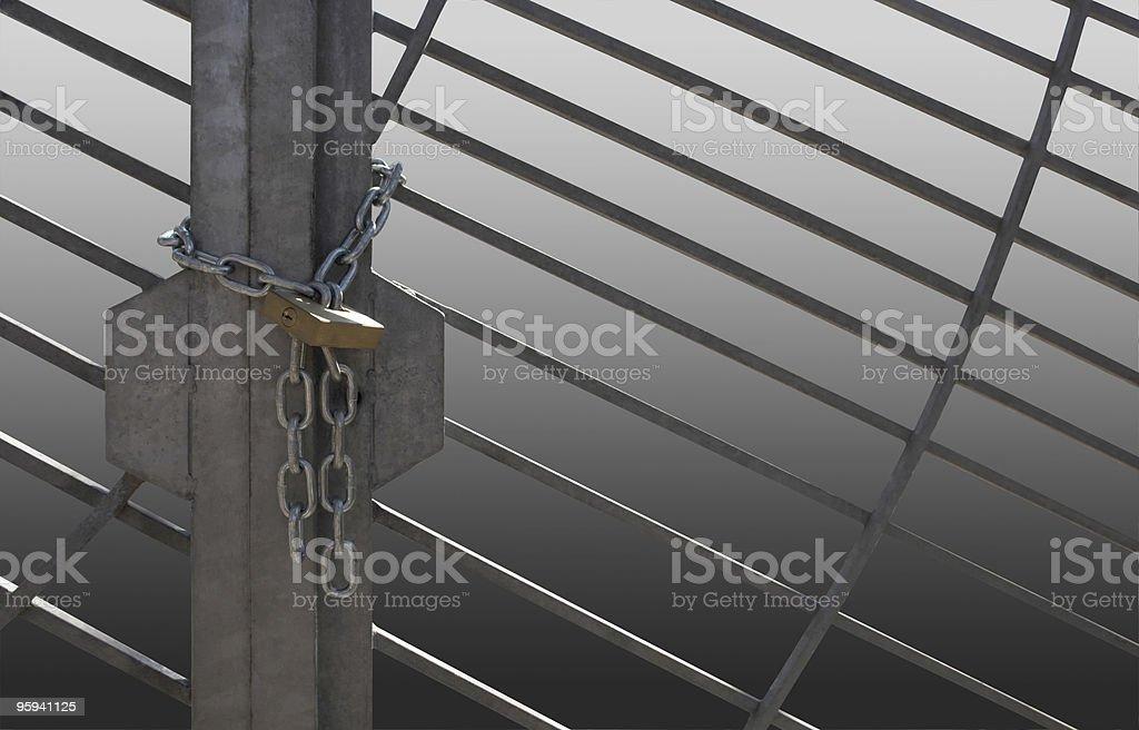 metal lattice door royalty-free stock photo