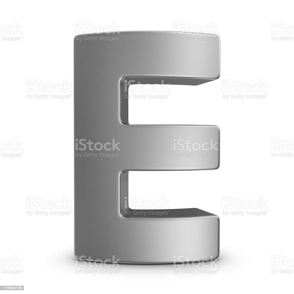 metal letter E royalty-free stock photo