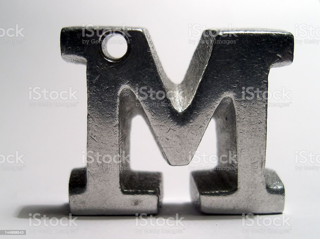 Metal letter m royalty-free stock photo