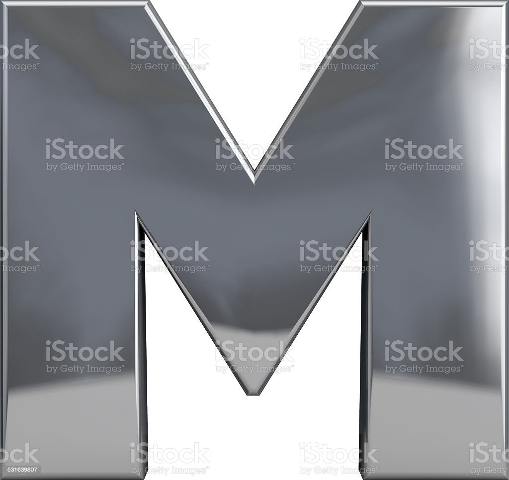 Metal Letter M stock photo
