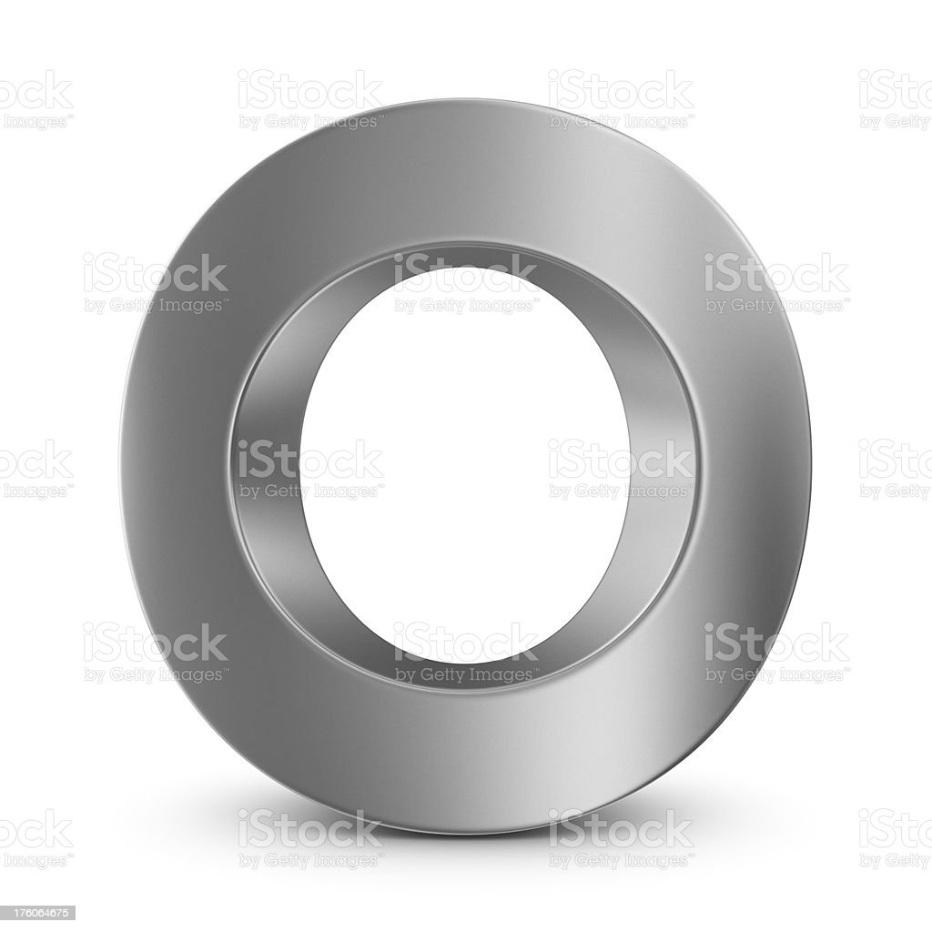 metal letter O royalty-free stock photo