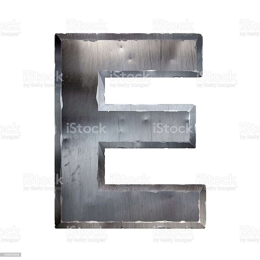 Metal letter royalty-free stock photo