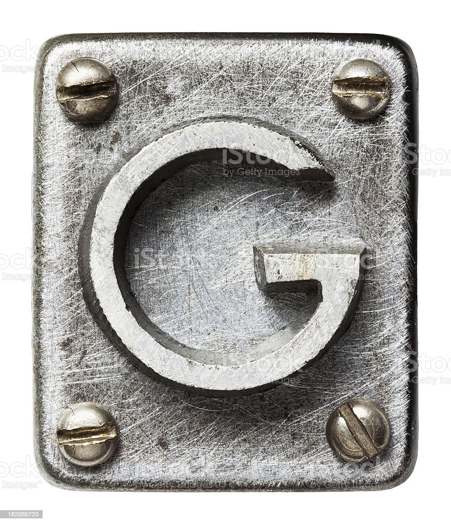 Metal letter stock photo