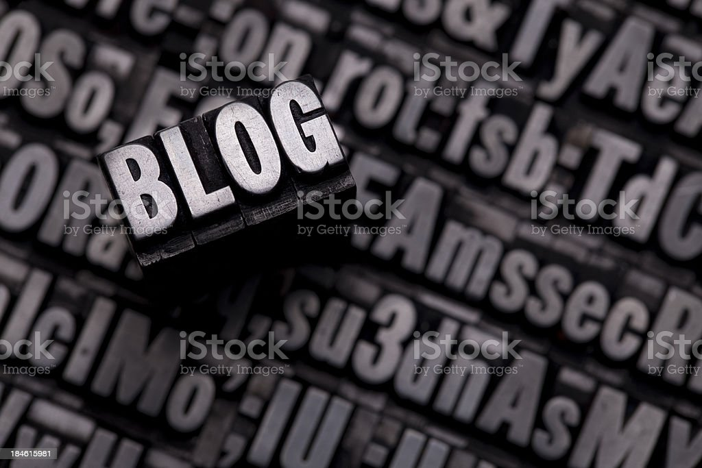 BLOG - Metal Letterpress Letters royalty-free stock photo