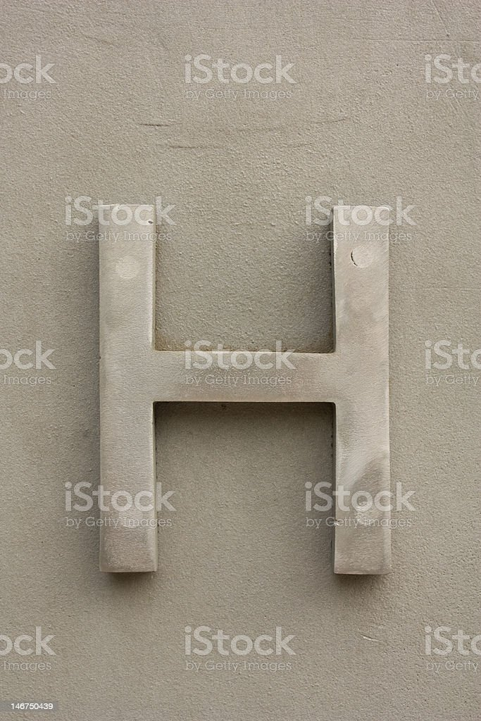 metal letters H royalty-free stock photo
