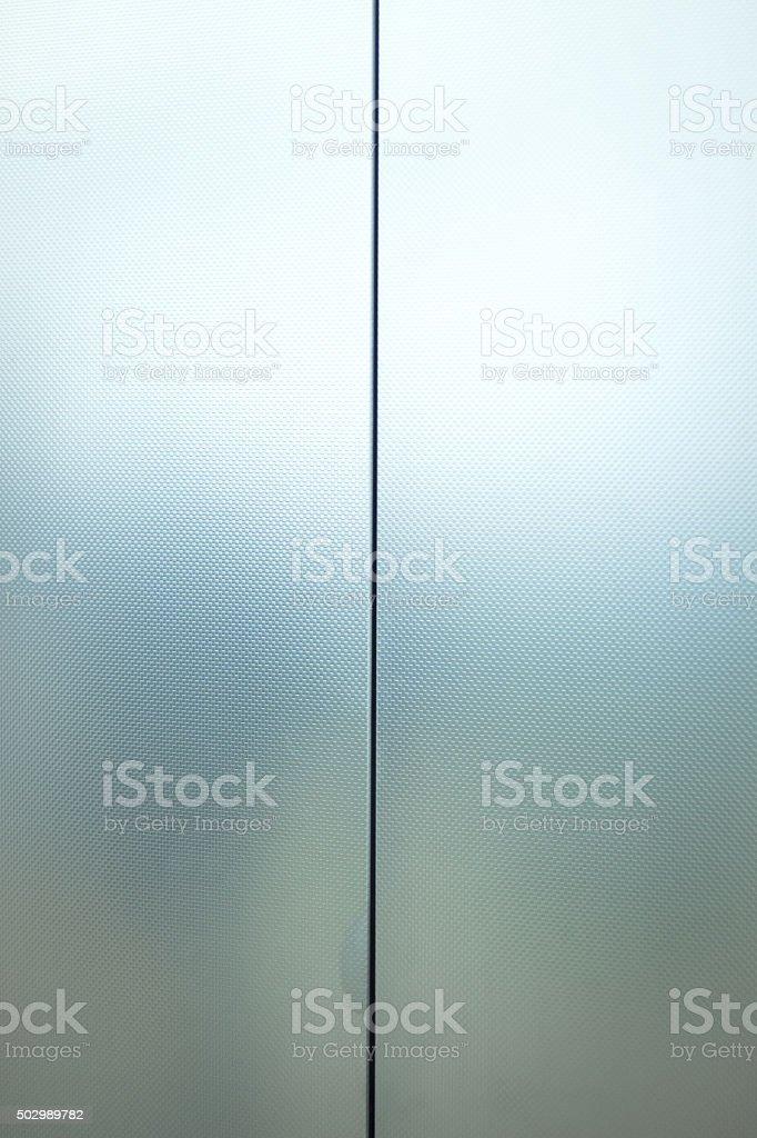 Metal lift elevator doors stock photo