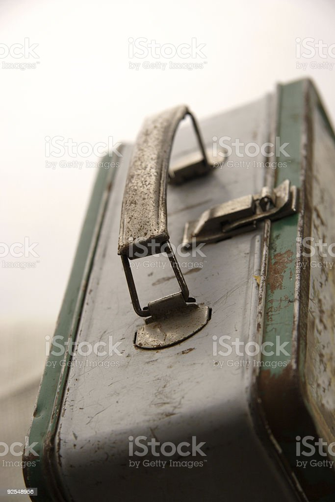 metal lunch box royalty-free stock photo
