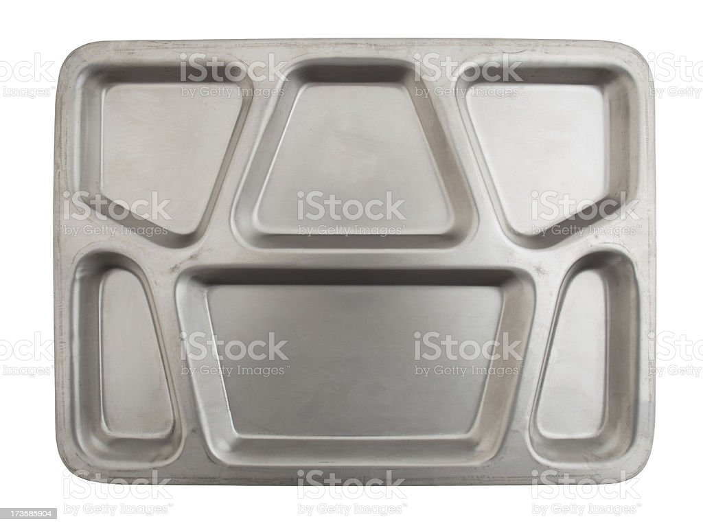 Metal Lunch Tray stock photo