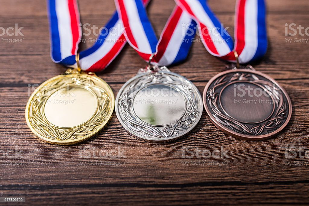 Metal medal stock photo