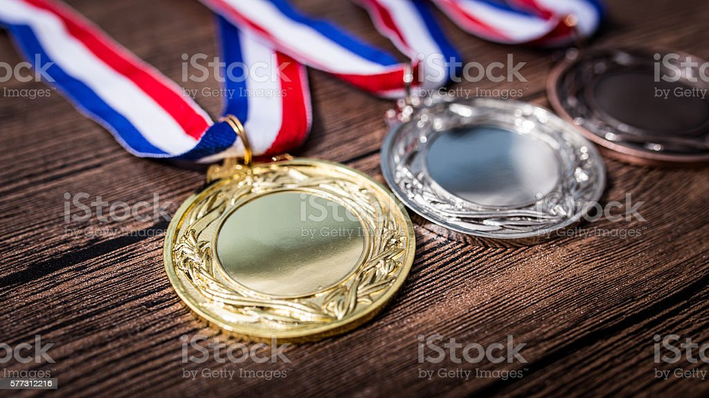 Metal medal stock photo