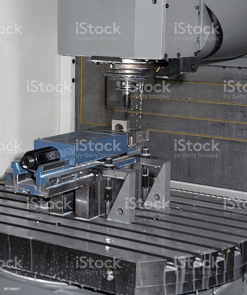 metal milling machine at work royalty-free stock photo