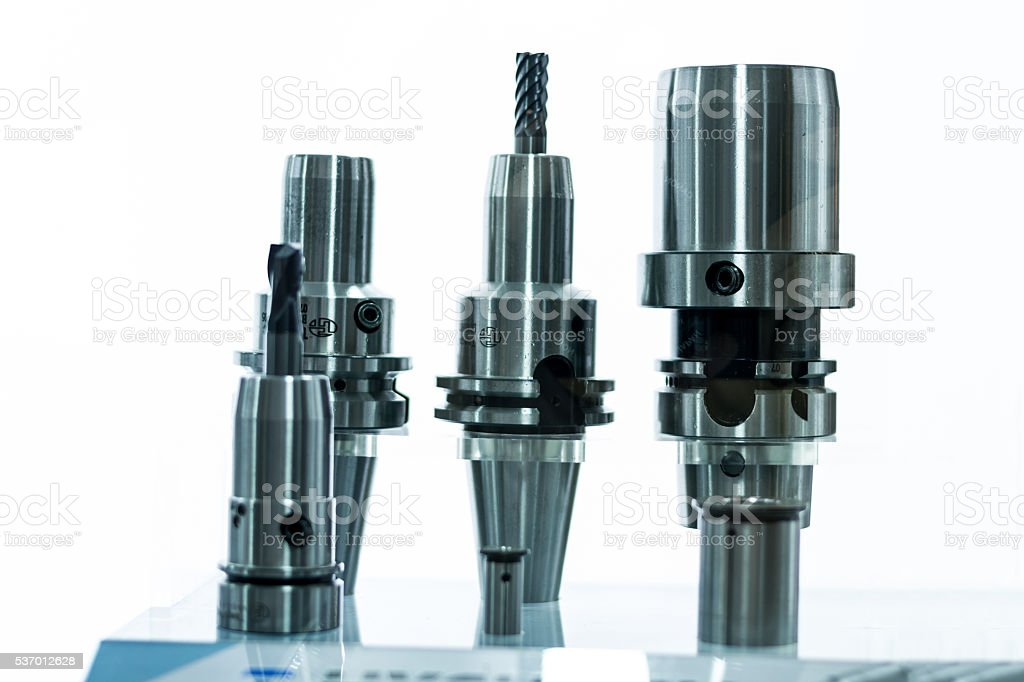 Metal milling tools / equipments with holder stock photo