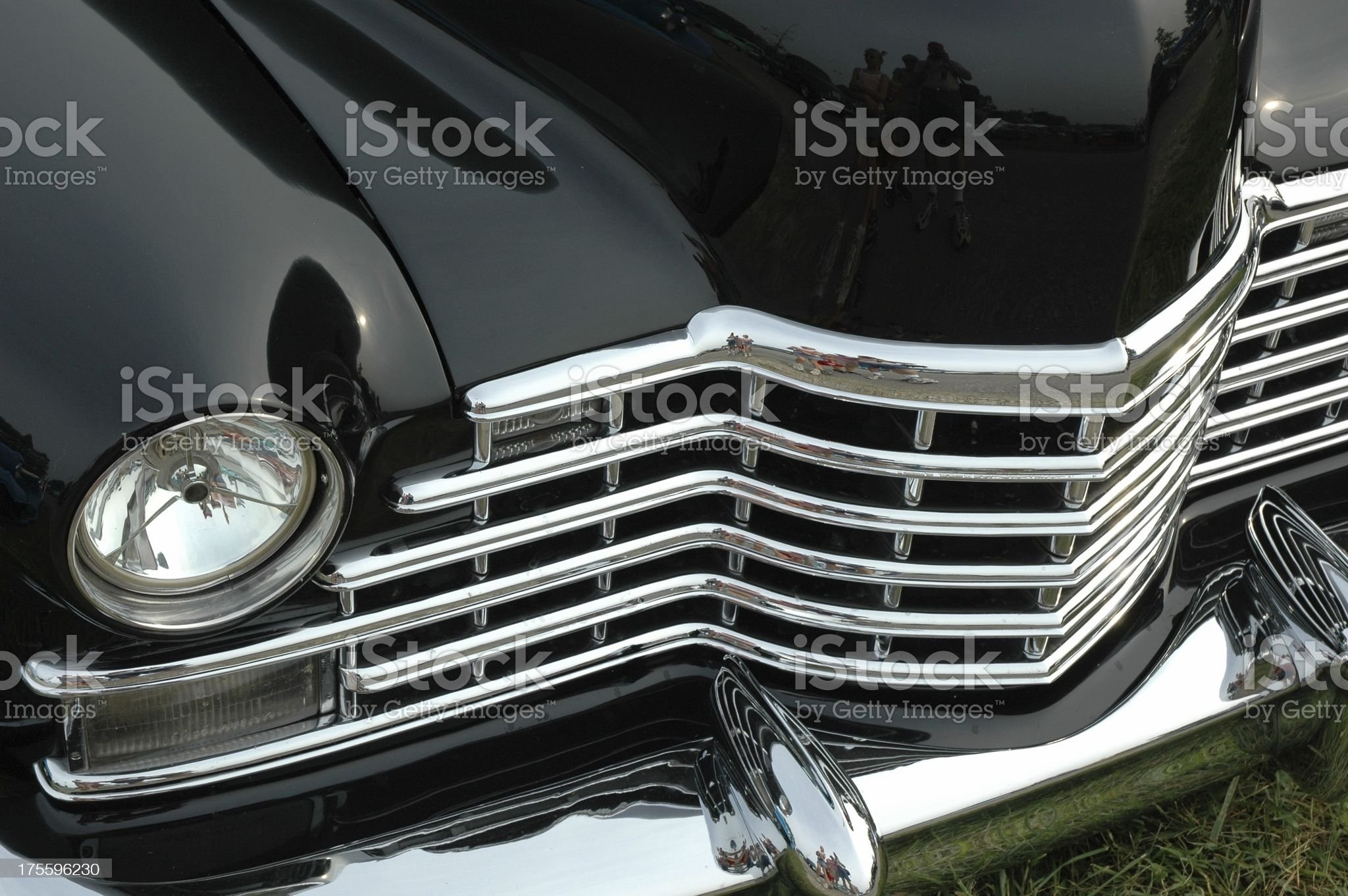 Metal Mouth 2 - Extreme Chrome on Classic Street Rod royalty-free stock photo
