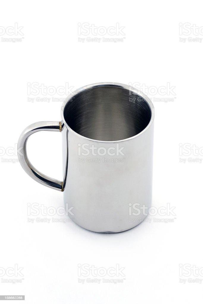 Metal mug stock photo