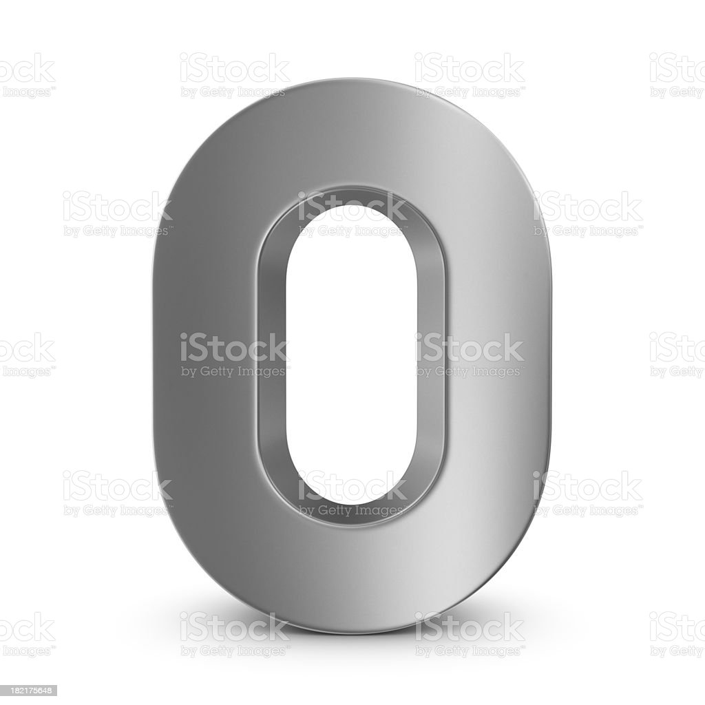 metal number 0 stock photo