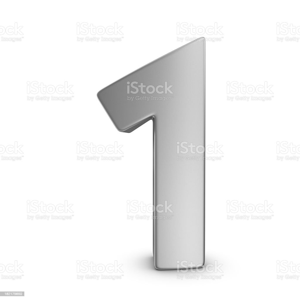 metal number 1 royalty-free stock photo