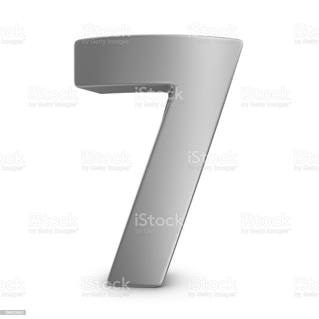 metal number 7 royalty-free stock photo