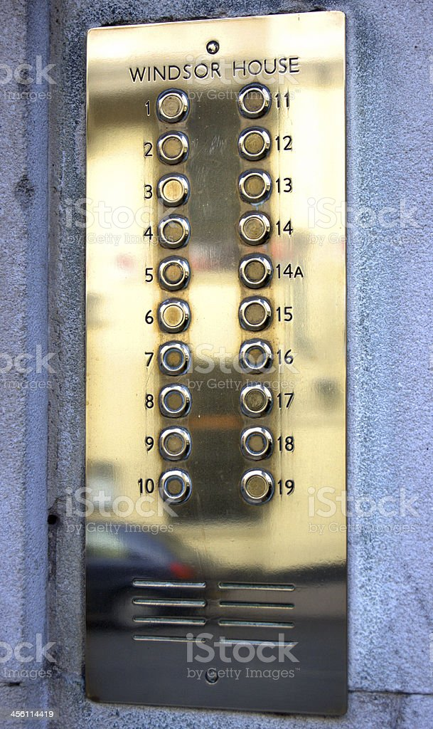 Metal Number Plate royalty-free stock photo