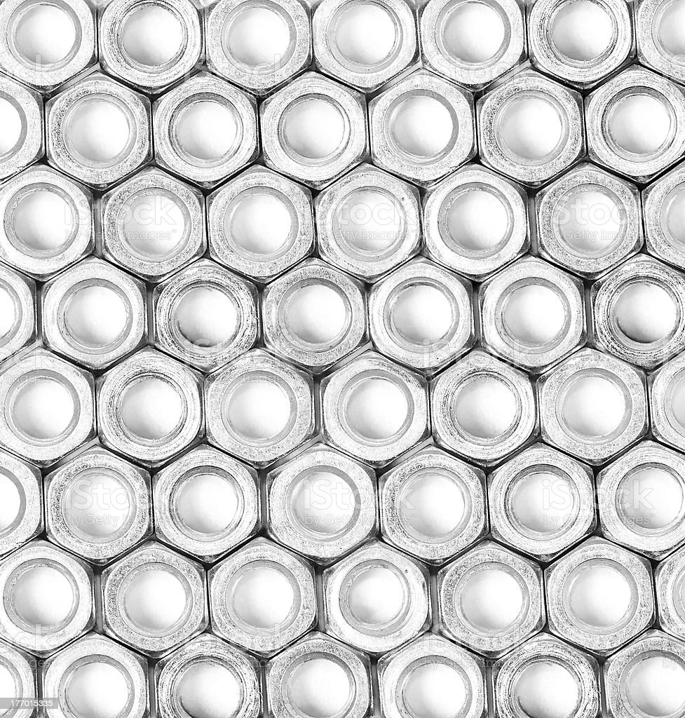 Metal nuts background royalty-free stock photo