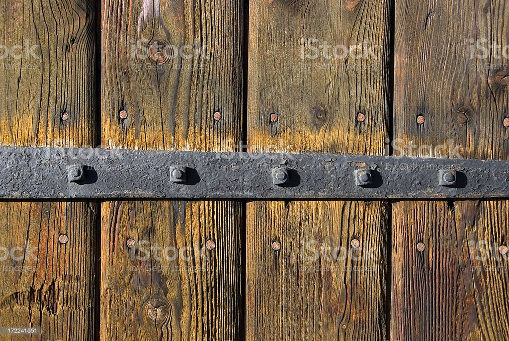 metal on wood royalty-free stock photo