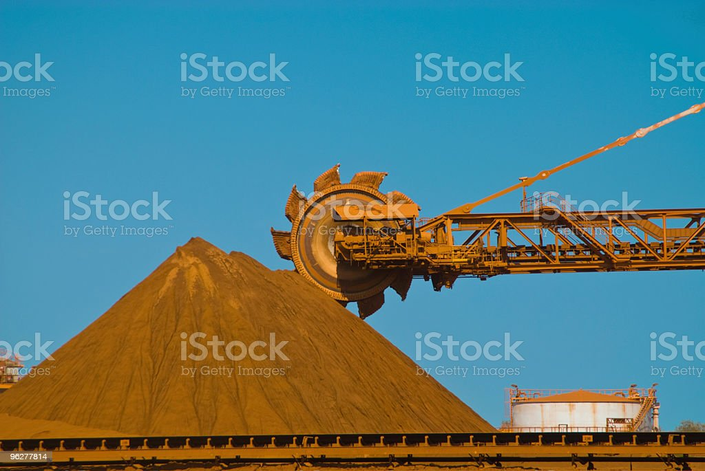 Metal Ore Reclaimer on Loading Site stock photo