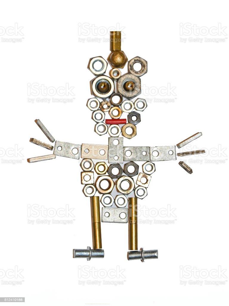 metal parts stickman stock photo